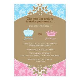 Prince or Princess Damask Gender Reveal Party