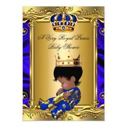 Prince Royal Blue Baby Shower Regal Gold Boy 2