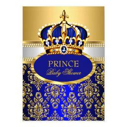 Prince Royal Blue Crown Baby Shower