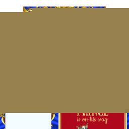 Prince Royal Blue Red Throne  Ethnic