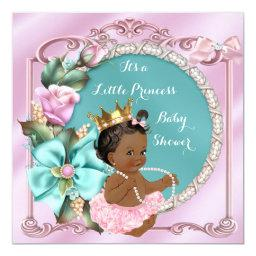 Princess Baby Shower Floral Teal Pink Ethnic