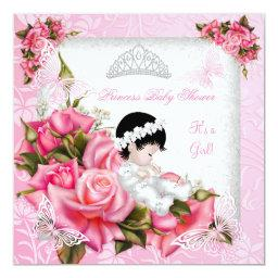 Princess  Girl Butterfly Pink Rose