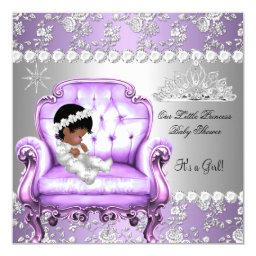 Princess Baby Shower Girl Lavender Silver Chair