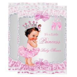 Princess  Girl Pink Ballerina Brunette