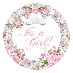 Princess  Girl Vintage Rose Floral