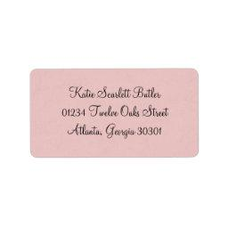 Princess Baby Shower Label