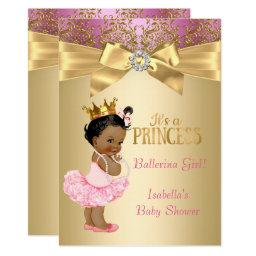 Princess  Pink Gold Ballerina Ethnic