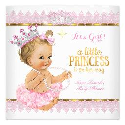 Princess Baby Shower Pink Gold Blonde Girl