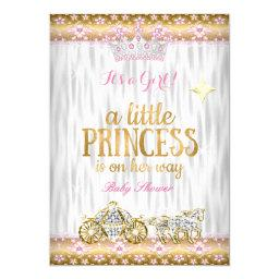 Princess  Pink Gold White Carriage