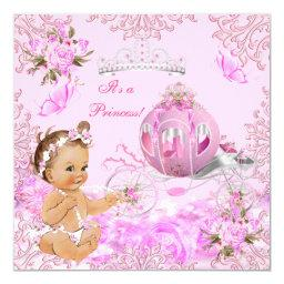 Princess Girl Baby Shower Pink Carriage