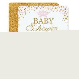 Princess Gold Glitter Sprinkle Baby Shower