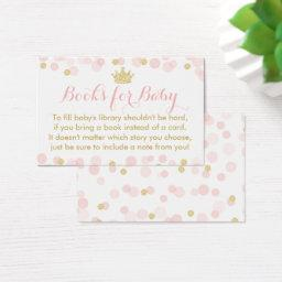Princess Pink and Gold Baby Shower Books For Baby