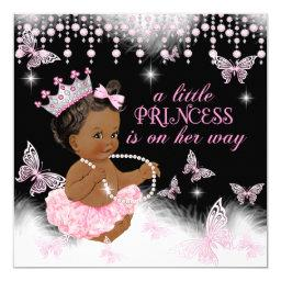 Princess Pink Butterfly Baby Shower Ethnic