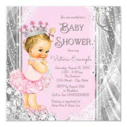 Princess Tutu Pink Silver Baby Shower