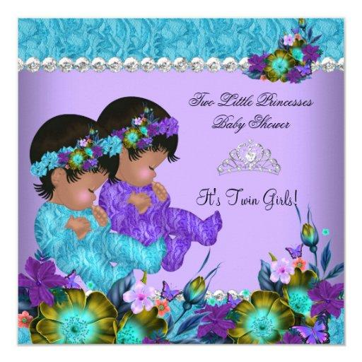 Princess Twin  Teal Blue Purple