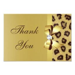 Printed Bow, Diamond & Leopard Print Thank You