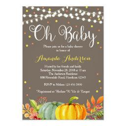 Pumpkin Baby Shower Invitation, Fall Baby Shower