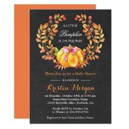 Pumpkin Baby Shower | Rustic Autumn Chalkboard