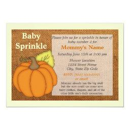 Pumpkin Burlap Fall Baby Sprinkle