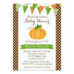 Pumpkin Polka Dot Bunting Fall