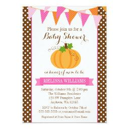 Pumpkin Polka Dot Bunting Girl Fall