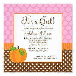 Pumpkin Polka Dot Fall Girl