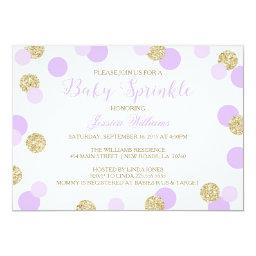 Purple and Gold Glitter Baby Sprinkle