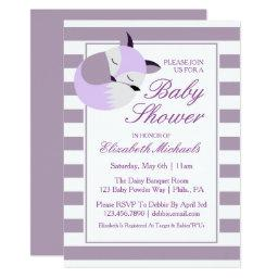 Purple Baby Shower Fox