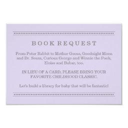 Purple Book Request | Baby Shower Enclosure