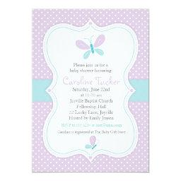 Purple Butterfly Baby Girl Shower