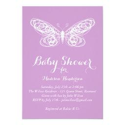 Purple Butterfly Baby Shower