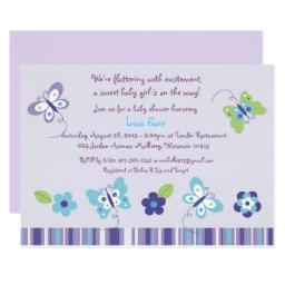 Purple Butterfly Garden Baby Shower