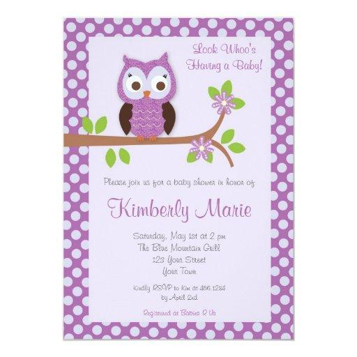 Purple Damask Owl