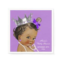Purple Ethnic Princess  Personalized Napkin