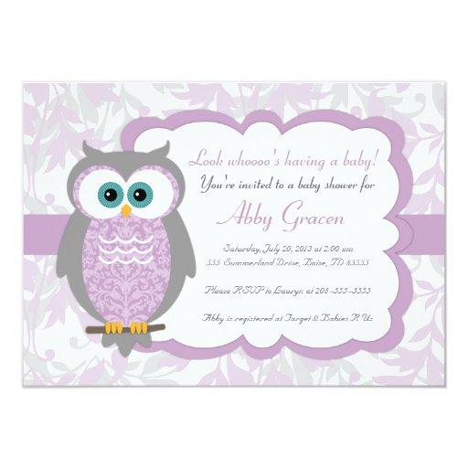 Purple, Gray, Owl  - 730