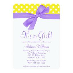 Purple Yellow Bow Polka Dot