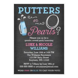Putters or Pearls Gender Reveal Party