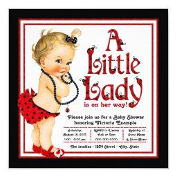 Red and Black Ladybug Baby Shower