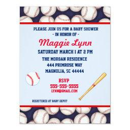 Red and Blue Baseball Baby Boy Shower