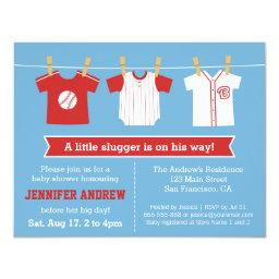 Red Baseball baby boy shower party