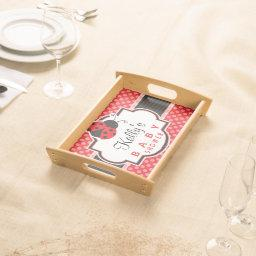 Red & Black Ladybug; Cute  Serving Tray