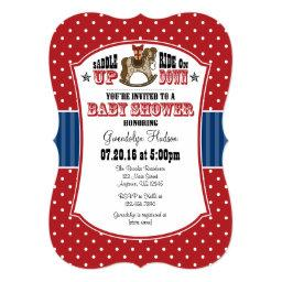 Red Blue Cowboy Baby Shower