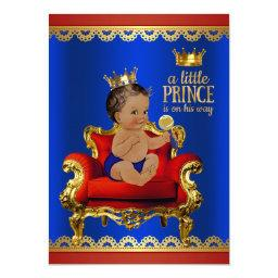 Red Blue Gold Chair Ethnic Prince Boy