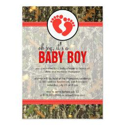 Red - Camo Baby Boy Shower