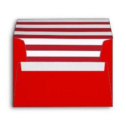 Red Envelope with a Red and White Striped Liner
