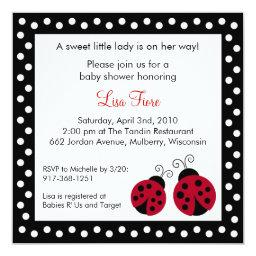 Red Ladybug Dots Baby Shower