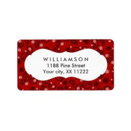 red paisley bandana cowboy western favor label
