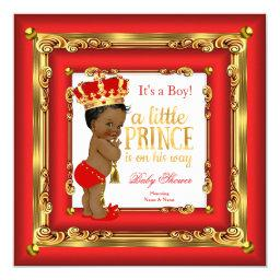 Regal Red Gold Prince  Ethnic Boy