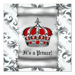 Regal Royal Red Prince Baby Shower