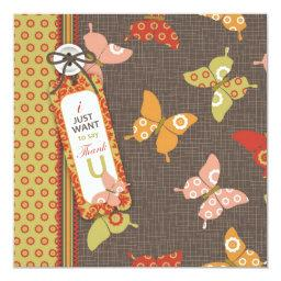 Retro Butterflies TY Square